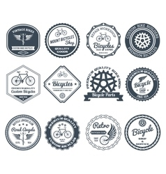 Cycling emblems black set vector