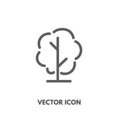 doodle tree icon vector image vector image