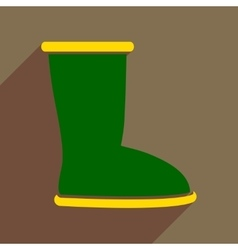 Flat icon with long shadow ugg boots vector