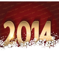 Happy New Year background with shiny text nestled vector image vector image