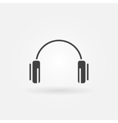 Headphone icon or logo vector image vector image