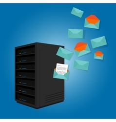 mail server send spam many emails vector image vector image
