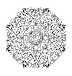Mandala ethnic decorative round element hand vector
