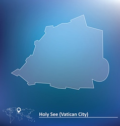 Map of Vatican vector image