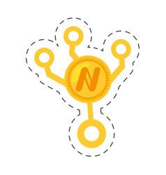 Money namecoin golden cut line vector