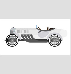 Old sport car or vintage retro racing collector vector