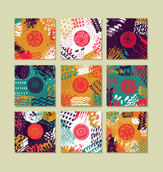 set of creative card template and flyers vector image vector image