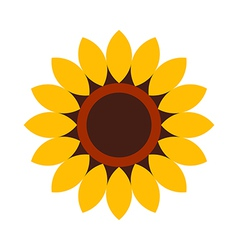 Sunflower - flower icon vector