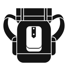Tourist backpack icon simple style vector