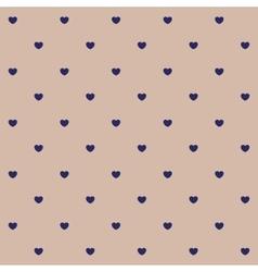 Vintage hearts polka dot pattern vector image