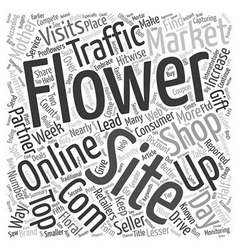 Online flower shops compete for web traffic with vector