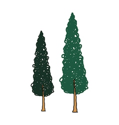 A pair of trees vector
