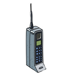 cartoon image of mobile phone vector image