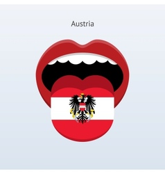 Austria language abstract human tongue vector