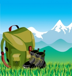 Travel mountans vector