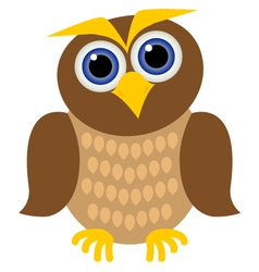 Clever owl vector