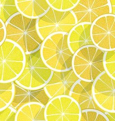 Citrus seamless background lemon vector