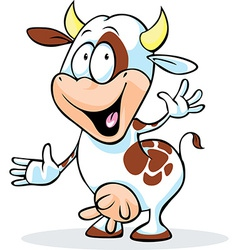 Funny cow character vector