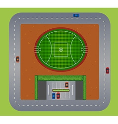 Top view of football field vector