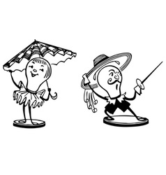 funny lamps vector image