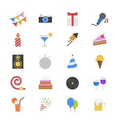 Celebration party flat color icons vector