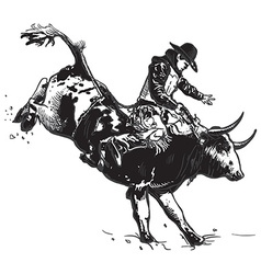 An hand drawn freehand - rodeo vector