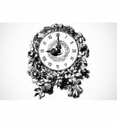 clock ornament vector image