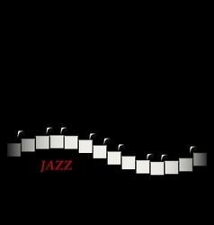 Jazz cafe concept piano keyboard vector