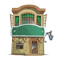 Old two-story pharmacy building vector