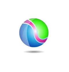 Glossy ball logo icon vector