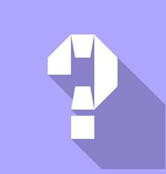 Alphabet paper cut letter vector