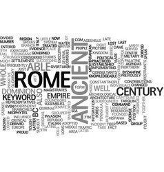 Ancient rome military text word cloud concept vector