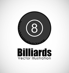 Billiards ball design vector
