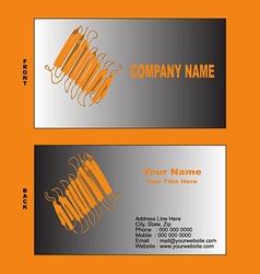Biotech visiting card vector