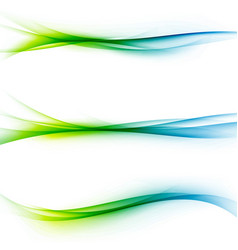 Bright green blue speed abstract lines flow vector
