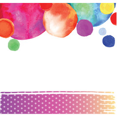 Bright watercolor circle vector