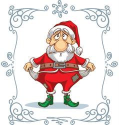 Broke Santa Cartoon vector image vector image