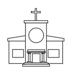 Christian church building vector