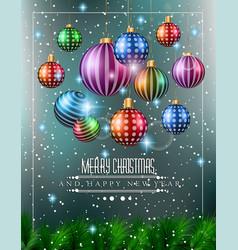 Christmas original modern background template vector image vector image