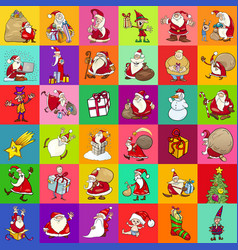 christmas pattern cartoon design vector image vector image