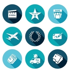 Cinema and Glory Icons Set vector image vector image