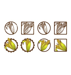 Corn Icon Collection vector image