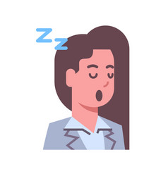 female napping emotion icon isolated avatar woman vector image vector image