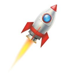 flying rocket vector image vector image