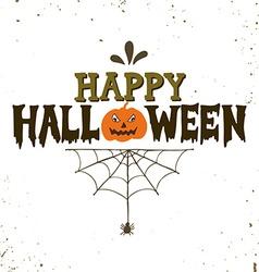 Hand drawn Happy Halloween lettering vector image vector image