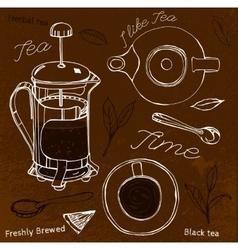 Hand Drawn Tea vector image vector image