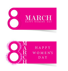 Happy 8 march design icon in pink vector