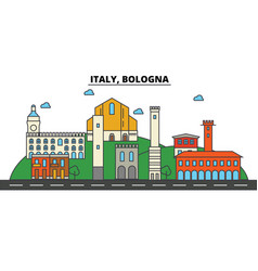 italy bologna city skyline architecture vector image