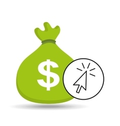 money bag shopping online design vector image