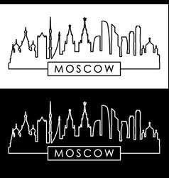 Moscow skyline linear style editable file vector